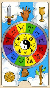 The Wheel of Fortune - Tarot Birth Cards